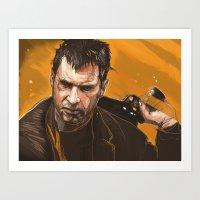 blade runner Art Prints featuring Blade Runner by Berkay Daglar