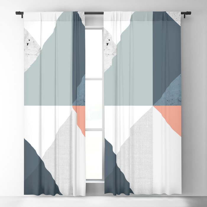 Modern Geometric 12 Blackout Curtain