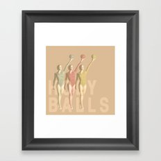holy balls Framed Art Print