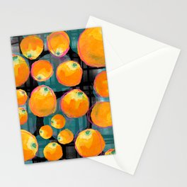 Oranges on Black Stationery Cards
