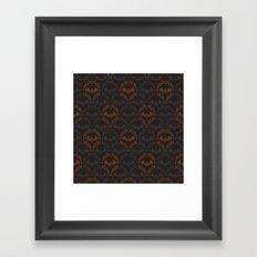 Bat Damask Framed Art Print