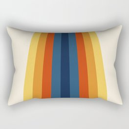Bright 70's Retro Stripes Rectangular Pillow