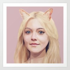 Dakota Fanning Art Print