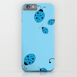 Ladybugs-Blue iPhone Case