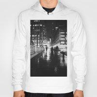 new york city Hoodies featuring New York City Noir by Vivienne Gucwa