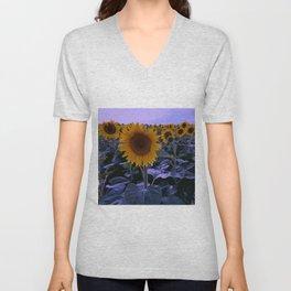 sunflower wonderland Unisex V-Neck