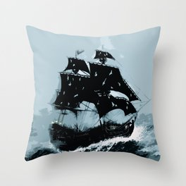 Pirate in Storm Throw Pillow