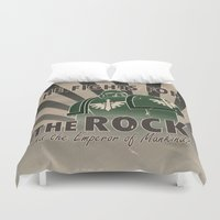 propaganda Duvet Covers featuring Dark Angels Propaganda by HenkusFilijokus
