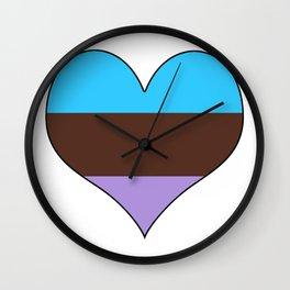 Androsexual Heart Wall Clock