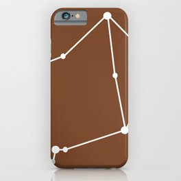Libra (White & Brown) iPhone Case