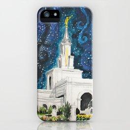 Sacramento CA LDS Temple Starry iPhone Case