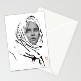 Jyn Erso: sketch-painting Stationery Cards
