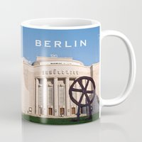theatre Mugs featuring BERLIN OST - VOLKSBÜHNE - Theatre by CAPTAINSILVA
