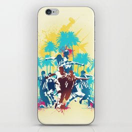Colors of football iPhone Skin