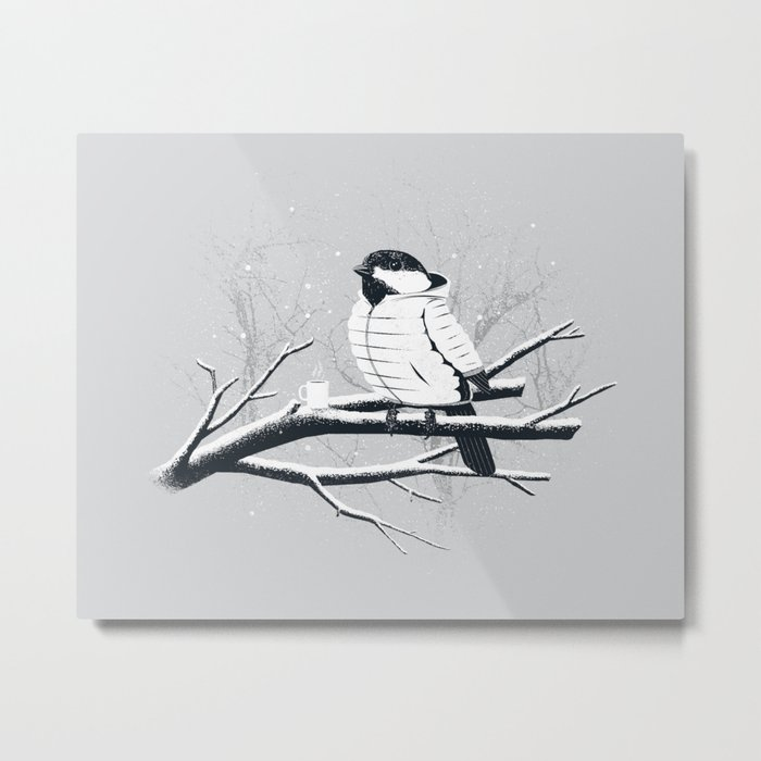 North For The Winter (Gray). Metal Print