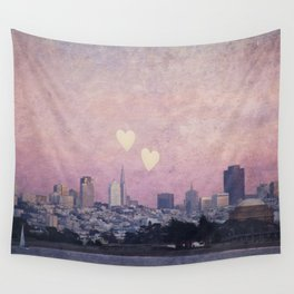 Where We Left Our Hearts Wall Tapestry