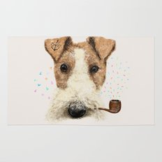 fox terrier sailor Rug
