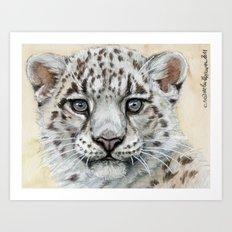 Snow Leopard Cub 799 Art Print