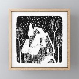 Snow House Framed Mini Art Print