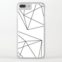 Geometric minimalist design Clear iPhone Case