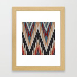 American Native Pattern No. 11 Framed Art Print