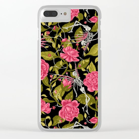 Death of Summer (black and rose) Clear iPhone Case