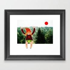 Little wood beastie Framed Art Print