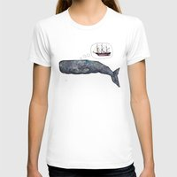 moby dick T-shirts featuring Moby Dick by Janie Stapleton