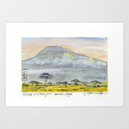 Kilimanjaro at Sunset Art Print