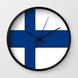 Flag of Finland 1 -finnish, Suomi, Sami,Finn,Helsinki,Tampere Wall Clock