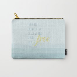The Grace of the World, Wendell Berry Quote, with Stripes Carry-All Pouch