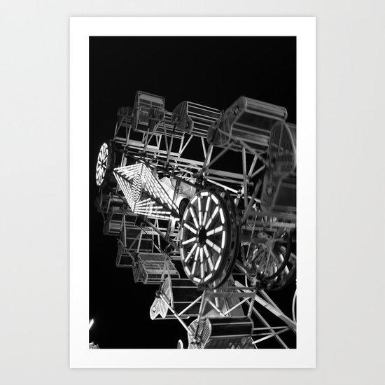 Lifes Ride (black and white) Art Print