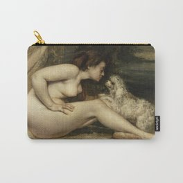 Gustave Courbet - Nude Woman with a Dog Carry-All Pouch