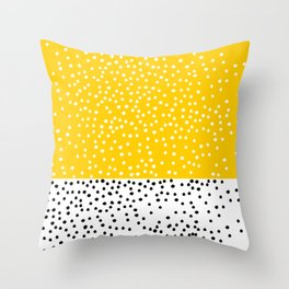 Cute yellow pattern with dots Throw Pillow