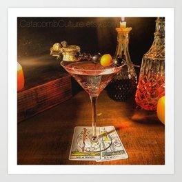Catacomb Culture - Halloween Martini Art Print