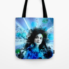 Psychedelic Moments Blue Tote Bag