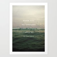 pocketfuel Art Prints featuring DEEP WATERS by Pocket Fuel