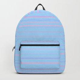 Sky Blue & Light Pink Candy Lines Backpack