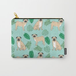 Pug summer tropical monstera pure breed dog gifts Carry-All Pouch