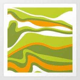 Pesto Orange and green Art Print