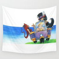 once upon a  time Wall Tapestries featuring Once Upon a Time by Massimiliano Feroldi
