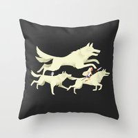 princess mononoke Throw Pillows featuring Princess Mononoke by Wharton