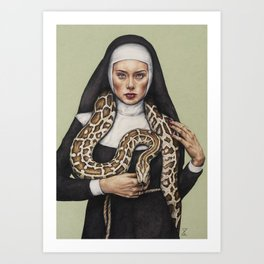 Nun the Wiser Art Print