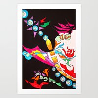 chakra Art Prints featuring Chakra Burst by Komal Garewal