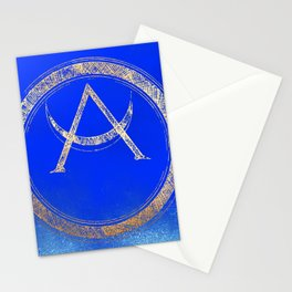 Lunar Goddess - Cobalt Gold Moon Stationery Cards