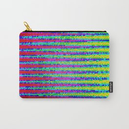 Abstract Color Stripes Carry-All Pouch