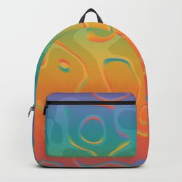 Colorful Holographic Foil Pattern 3d Texture Trendy Colors Backpack