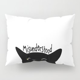 Black Cat Misunderstood Pillow Sham