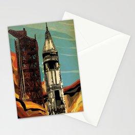 Apollo 1 Rocket Stationery Cards