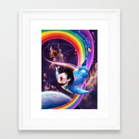 jon contino Framed Art Prints featuring Jon Wins by Imogen Scoppie